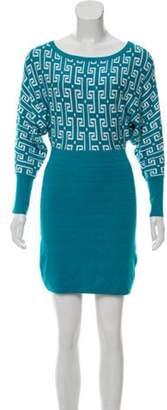 Dolce & Gabbana Dolman Sleeve Mini Dress Turquoise Dolman Sleeve Mini Dress