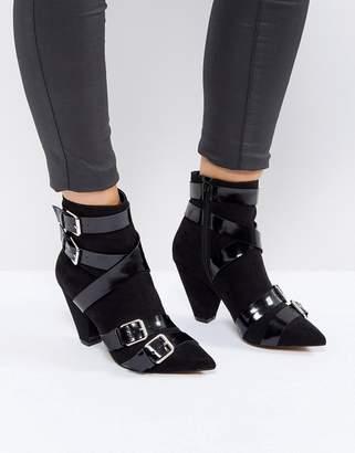 Asos ROBIN Multi Strap Cone Heel Boots