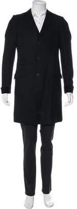 Bottega Veneta Velvet-Trimmed Virgin Wool & Cashmere Overcoat