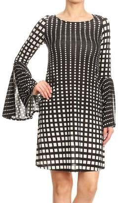 Ariella Print Bell-Sleeve Dress