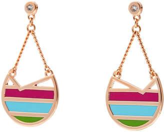 Colette Malouf Rose Gold Ibiza Swing Earrings