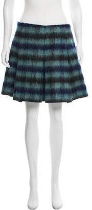 Balenciaga Striped Mohair Skirt