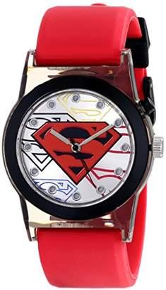 Superman Kids' SUP9118 Analog Display Analog Quartz Red Watch