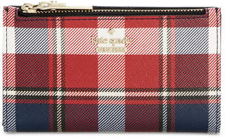 Kate Spade Cameron Street Rustic Plaid Mikey Wallet