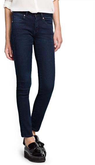 MANGO Super Slim-Fit Dark Blue Jeans
