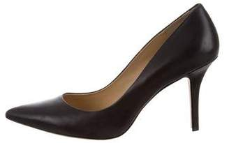 AERIN Leather Pointed-Toe Pumps