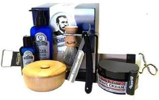 Colonel Conk Products Beech Wood Mug & Straight Razor Gift Set