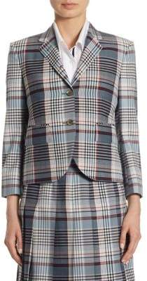 Wool Madras Check Blazer