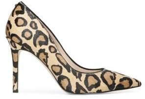 Sam Edelman Hazel Leopard Calf Hair Pump