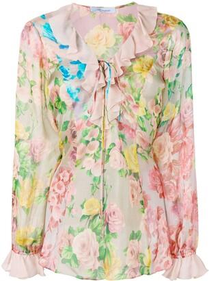 Blumarine floral print blouse