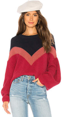 1 STATE Chevron Front Sweater