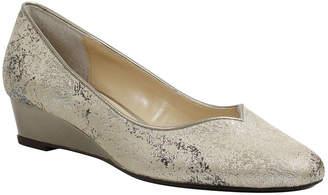 PALIZZIO Palizzio Womens Malaney Pumps Slip-on Soft Toe Wedge Heel