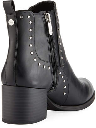 Sam Edelman Jenna Flat-Studded Leather Booties