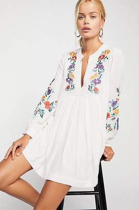 Mia Gauze Embroidered Mini Dress