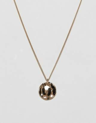 Weekday hammered circle pendant necklace