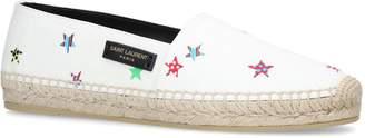 Saint Laurent Star Print Espadrille Loafers