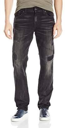 True Religion Men's Ricky Relaxed Straight Leg Black Rip & Repair Jean