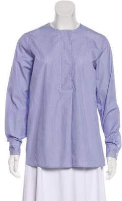 Alberto Biani Printed Long Sleeve Blouse