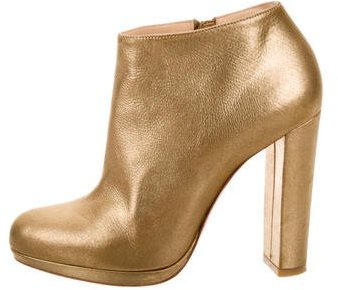 Christian Louboutin  Christian Louboutin Rock and Gold Leather Booties