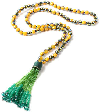 Amrita Singh Crystal Tassel 30In Necklace