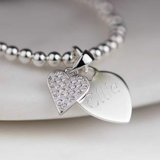b8a317ef65b Nest Personalised Children s Silver Heart Skinny Bracelet