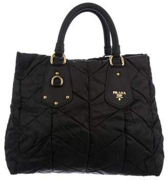 Prada Quilted Tessuto Tote Black Quilted Tessuto Tote
