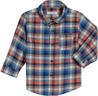 Mayoral Long-Sleeve Gingham Poplin Shirt, Size 3-24 Months