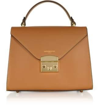Le Parmentier Peggy Leather Top Handle Satchel Bag