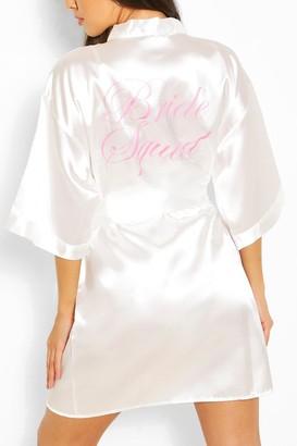boohoo Rhea Brides Squad Metallic Robe