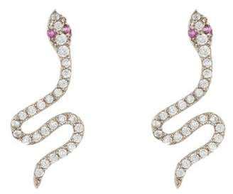 Nordstrom Rack CZ Snake Stud Earrings
