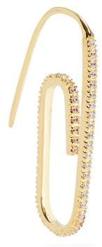 Swarovski Hillier Bartley Embellished Paperclip Single Earring - Womens - Gold