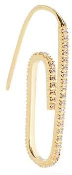Swarovski Hillier Bartley Embellished Paperclip Single Earring - Womens - Gold