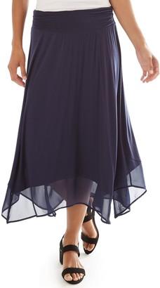 Apt. 9 Women's Handkerchief Hem Midi Skirt