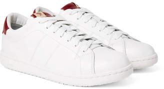 Visvim Foley Folk Leather Sneakers - Men - White