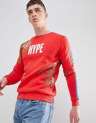 Hype sweatshirt with tropical print