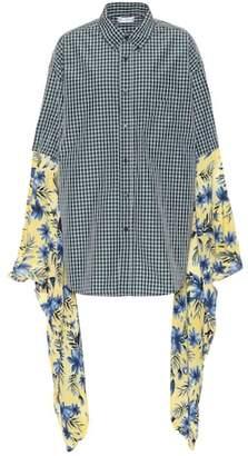 Balenciaga Plaid and floral shirt