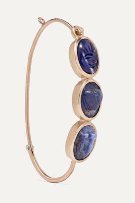 Pascale Monvoisin I Love You 9-karat Gold Sodalite Earring