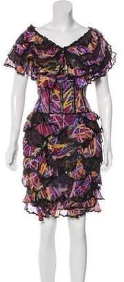 Chanel Silk Tiered Dress
