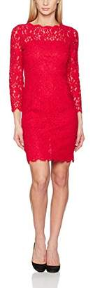 Gina Bacconi Women's Lace with Jewel Flower Buttons Dress