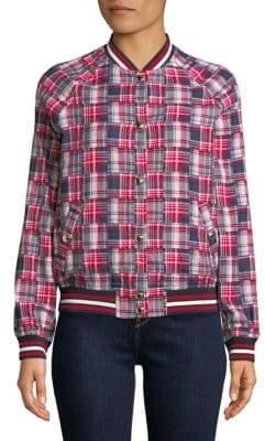 Tommy Hilfiger Patchwork Cotton Varsity Jacket