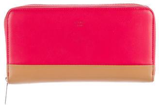CelineCéline Bicolor Leather Wallet