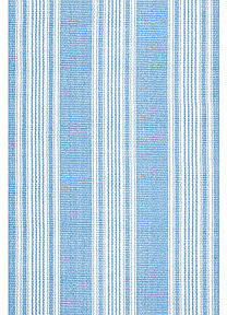 Dash and Albert Sail Stripe Rug in Blue
