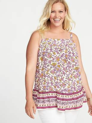 Old Navy Floral Plus-Size Tiered-Hem Tank