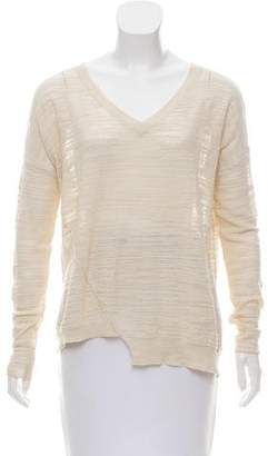 White + Warren V-Neck Knit Sweater