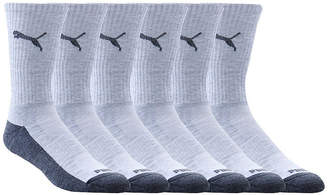 Puma 6 Pair Crew Socks-Mens