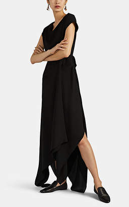 Co Women's Draped Crepe Asymmetric Dress - Black