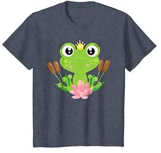Cute & Modern Frog Princess Flowers T-shirt & Gift G999984