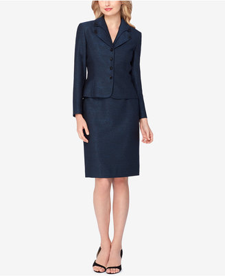 Tahari ASL Layered-Collar Shimmer Skirt Suit $320 thestylecure.com