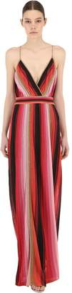 M Missoni Long Striped Lurex Dress