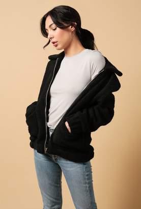 Azalea Teddy Zip Up Jacket